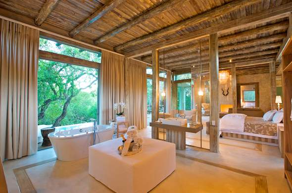 Luxurious safari accommodation is offered in the Superior Suite of Kapama Karula Lodge.
