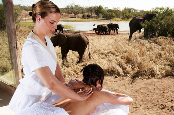 Spa game viewing experience at Kapama River Lodge Spa.